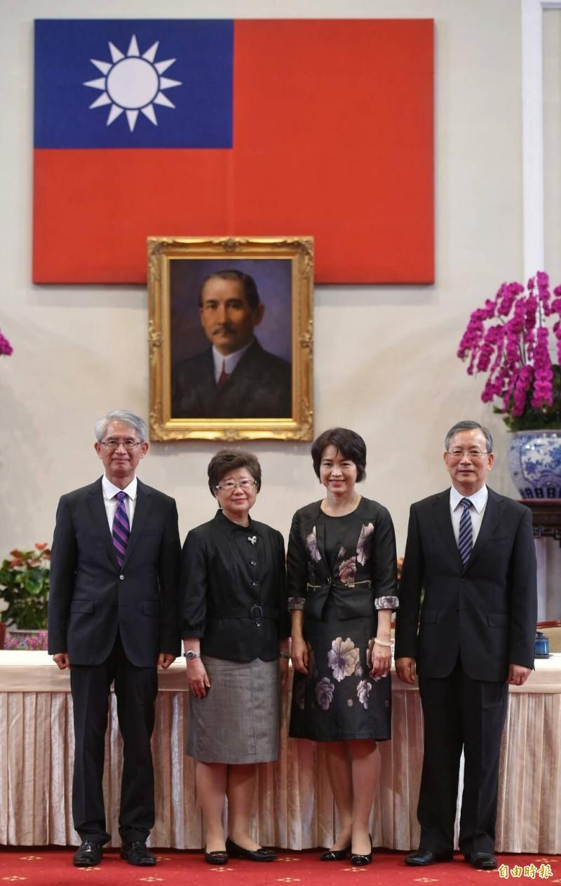 大法官被提名人選,左起謝銘洋、楊惠欽、蔡宗珍及呂太郎。(記者劉信德攝)