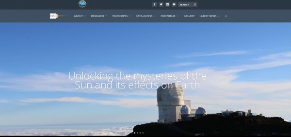 美國國家太陽天文台自本月6日起被聯邦調查局進駐並封鎖。(圖擷取自NSO)