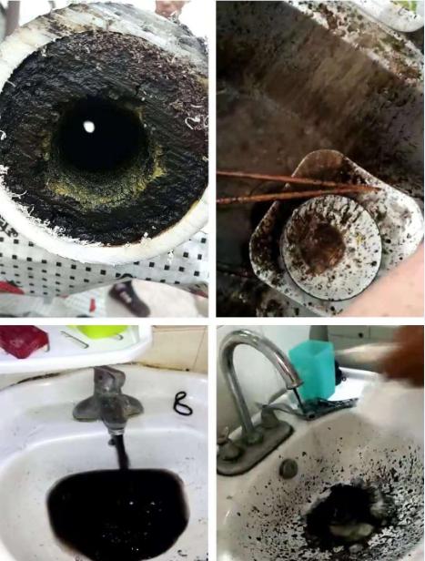黑龍江哈爾濱上萬戶居民的生活用水水質極差,打開水龍頭,常常流出如墨汁般的黑色液體,水裡還夾雜顆粒、蟲子。(圖擷取自《中國之聲》)