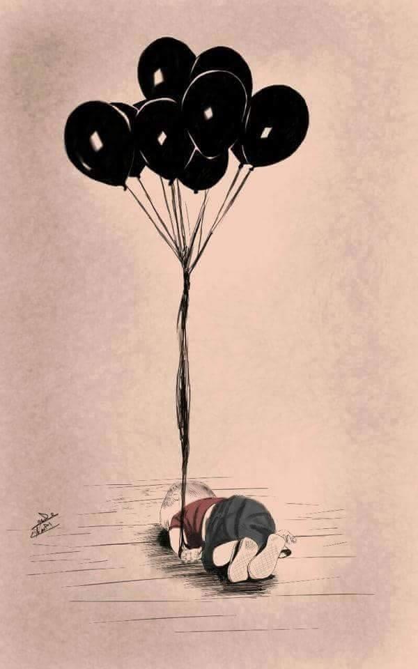 網友改圖希望男童死後不再有痛苦。(圖擷自網路)