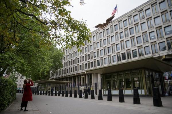 美國原先位於倫敦市中心的大使館。(歐新社)