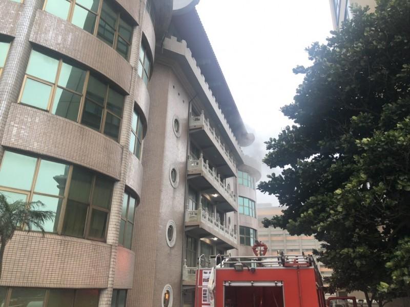 文化大學大典館昨天傍晚發生火警。(資料照)