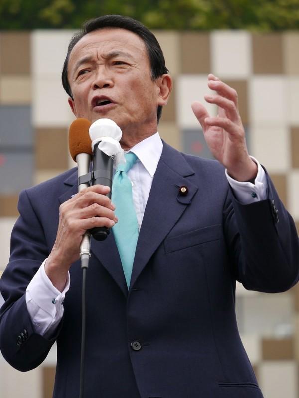 部屬福田淳一遭爆涉嫌性騷多名女記者,財務大臣麻生太郎(見圖)今日表示,「若屬實就開除。」(圖取自維基百科)