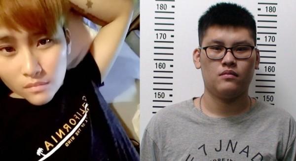 性侵害假釋犯25歲潘俊皓,涉嫌剪斷電子腳鐐,目前已在宜蘭落網。圖為臉書照片和查緝專刊差很大。(左圖擷取自網路,右圖刑事局提供)