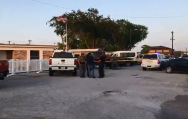 美國德州發生連續槍擊案,共有5人死亡。(圖擷自Alexandria Rodriguez推特)