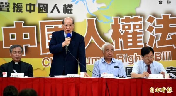 台聯要推中國人權法立法工作,效法美、日、韓三國分別對於北韓所制定的「北朝鮮人權法」之精神。(記者朱沛雄攝)