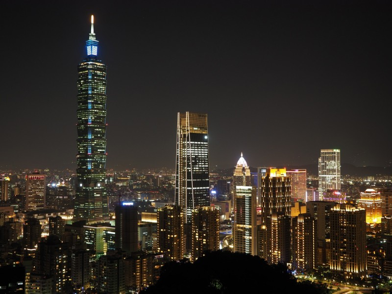馮韋元提出7點讓他愛上台灣的原因,就是「風景、安全、食物、方便、乾淨、交通、健保」。圖為台北示意圖。(歐新社)