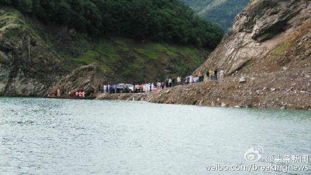 中國四川廣元發生翻船意外,14人下落不明。(圖擷取自網路)