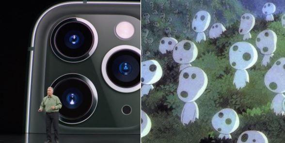 新的三鏡頭也神似宮崎駿電影《魔法公主》中的木靈。(圖擷自けろこ推特)