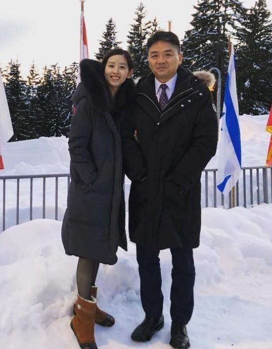 劉強東(右)與太太「奶茶妹」。(圖擷自Instagram)