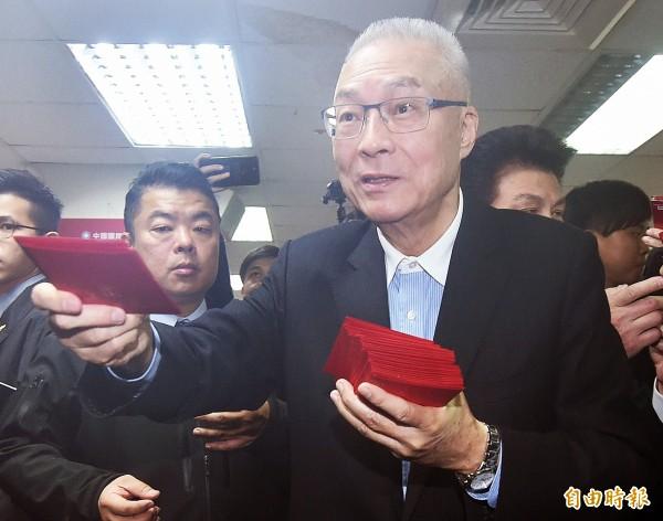 統大選提名,國民黨主席吳敦義說沒有所謂的「韓國瑜門檻」。(資料照)