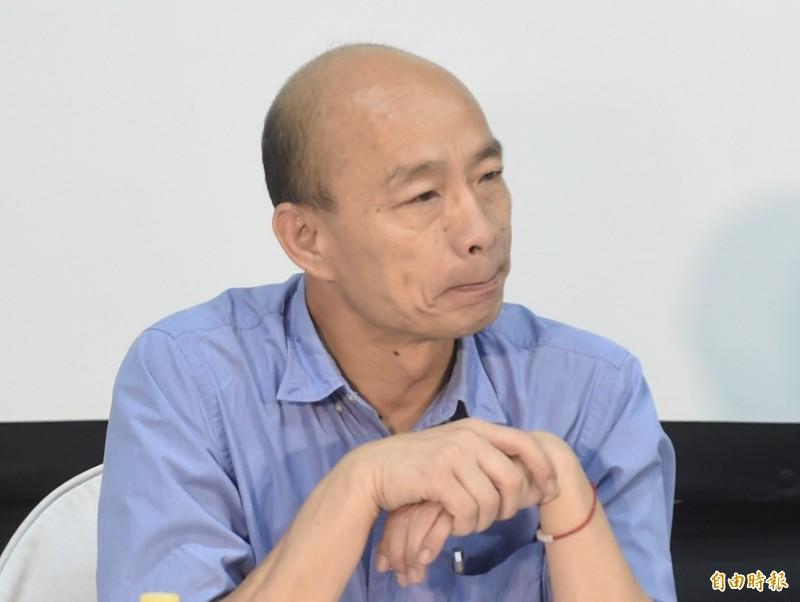 韓國瑜昨日在新竹造勢稱將被抹黑吸毒,政大教授徐世榮臉書表示,「韓國瑜惡毒的選戰策略:自己抹黑自己。」(資料照)