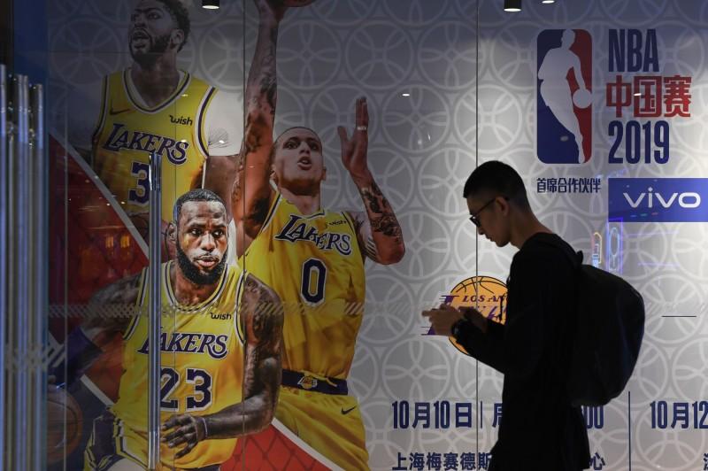 NBA在中國相當受歡迎。(法新社)