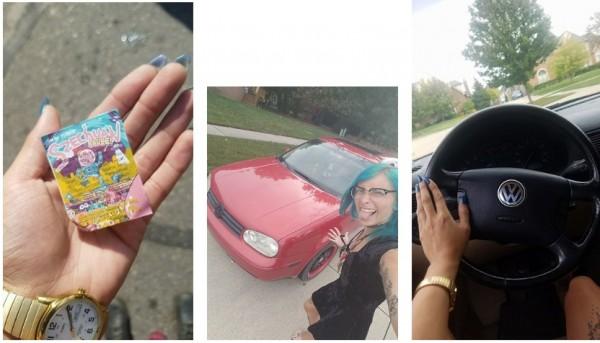 美國一名女性在臉書換物社群上,用一包近日爆紅的麥當勞四川醬換到一台車。(圖片擷取自網站The Drive,http://www.thedrive.com/)