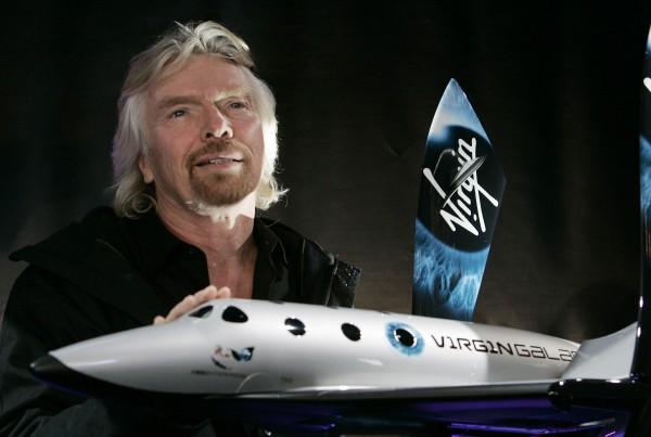 維珍銀河公司是英國航空業大亨布蘭森旗下的子公司。(法新社)
