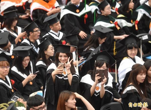 中國去年應屆畢業生平均月薪減少約16%,平均薪資僅為4014元人民幣(約台幣1萬8000元),比台灣應屆畢業生還低。(資料照)