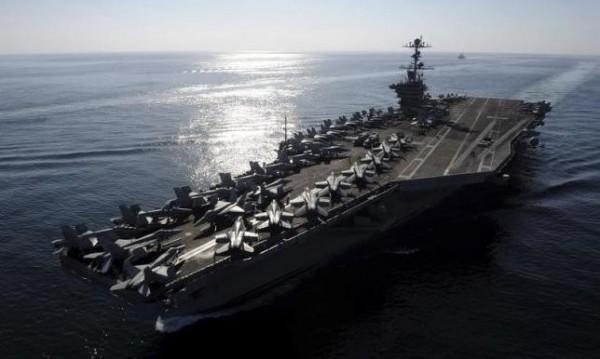 史丹尼斯號航空母艦(USS John C. Stennis)。(路透)