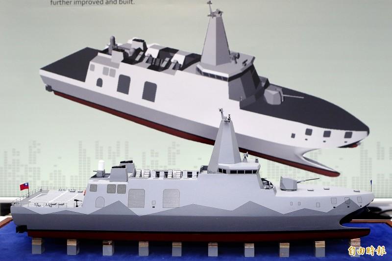 沱江艦後續量產型模型。(資料照)