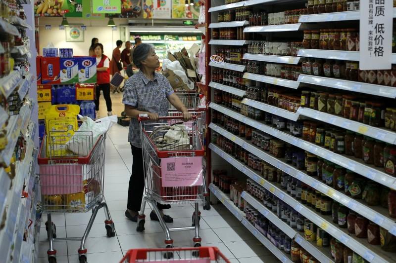 中國北京一名男子在超市被老翁提醒戴上口罩,盛怒之下將老翁打成重傷,最終老翁不治身亡。圖片為中國超市示意圖。(歐新社)