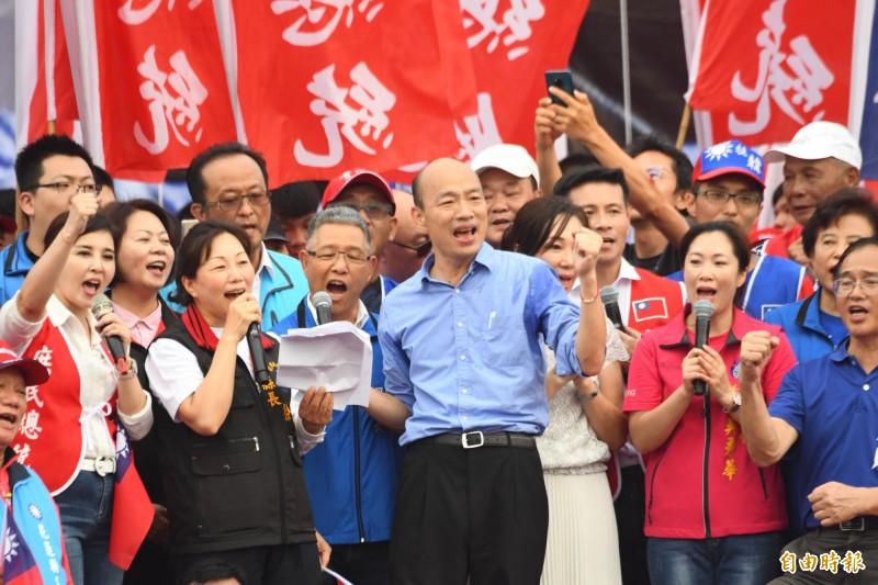韓國瑜今發表6點聲明,內容提到中國對香港的一國兩制不適用於台灣。(資料照)