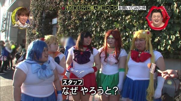 日本5人女子coser裝扮成美少女戰士。(圖擷自モカ☆マターリ@mocha_matari推特)