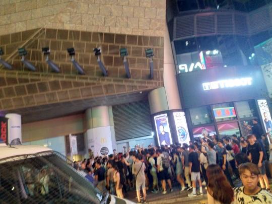 網友表示,目前已有人群在旺角聚集。(圖擷取自連登討論區)