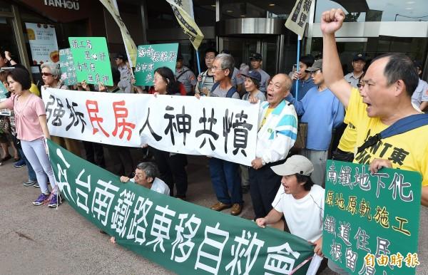 台北高等行政法院今宣判,原告反南鐵東移案蘇俊文等49人敗訴,還可上訴。(資料照,記者廖振輝攝)