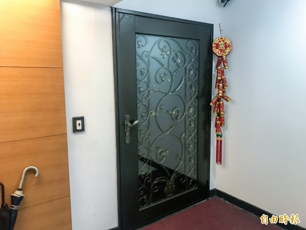 花蓮縣政府台北辦公室大門深鎖。(記者黃耀徵攝)