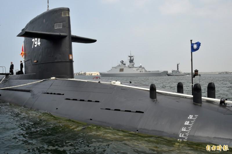 劍龍級潛艦。圖為舷號794的海虎號潛艦。(資料照)