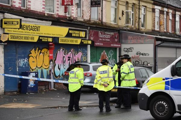 英國曼徹斯特發生大規模槍擊案,10人受到輕重傷不等的傷勢,目前已送醫治療。(法新社)
