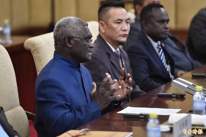 索羅門群島總理蘇加瓦瑞訪問中國。(歐新社)