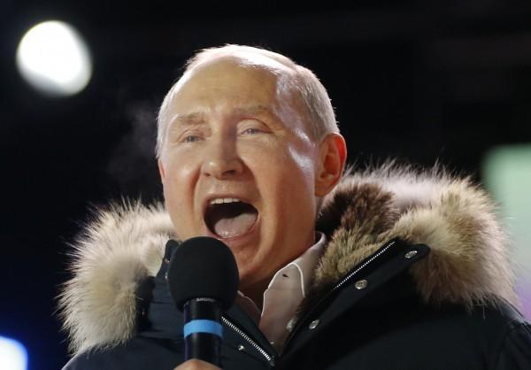 俄羅斯總統普廷順利連任。(美聯社)