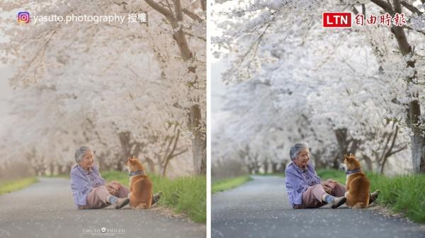 奶奶與柴犬阿福。(授權:yasuto.photography)
