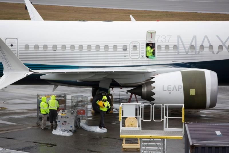 波音18日首度坦承,用來培訓飛行員的737 Max型飛機模擬器軟體存在瑕疪。(法新社)