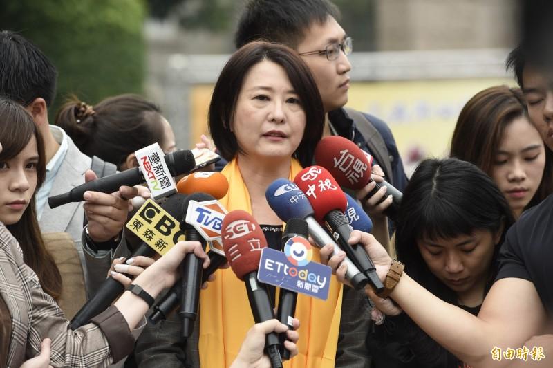 國民黨台北市議員王鴻薇認為,「罷韓不只是滅韓也是滅國民黨」。(資料照)
