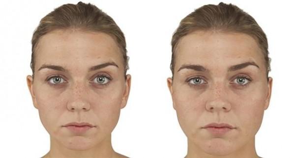 研究發現,相較於臉形消瘦的女人(左),臉型圓潤的女人(右)較難得到工作機會。(圖擷取自《PLOS ONE》)