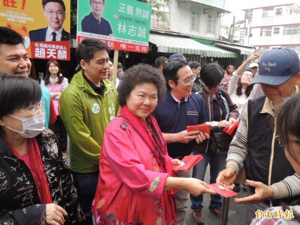 府院下午宣布人事異動,據了解,高雄市長陳菊為總統府秘書長熱門人選,但還等陳菊本人做出最後決定。(資料照)