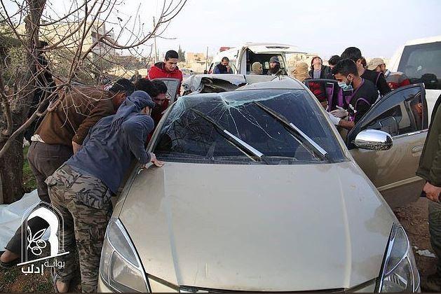 2017年2月「蓋達」2號人物馬士禮在敘利亞遭美軍無人機空襲擊斃,據信就是使用「R9X」。(圖擷自Twitter)