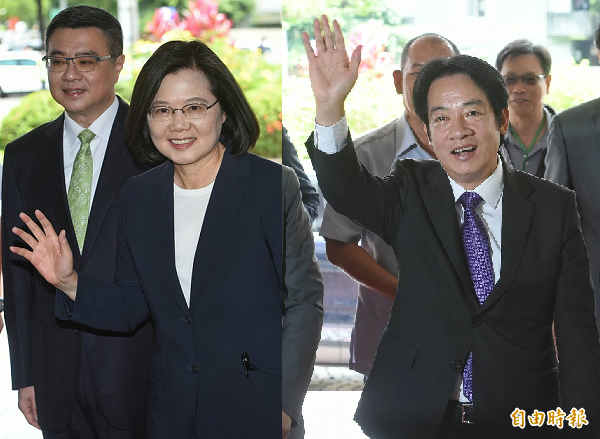 總統蔡英文(左)、前行政院長賴清德(右)。(本報合成照,記者劉信德攝)