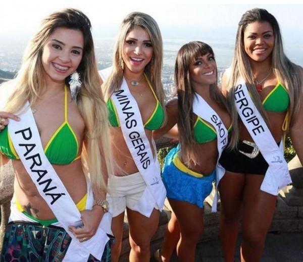「美臀小姐」比賽大受巴西民眾喜愛。(圖取自《鏡報》)