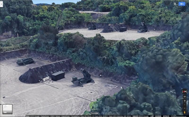 愛國者飛彈基地立體還原,解析度相當高。(圖擷取自Google地圖)