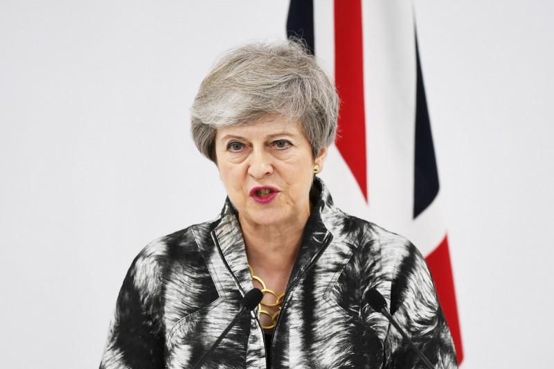 英國首相梅伊今日在國會中直言,「中國必須尊重香港的高度自治、自由和人權」。(資料照,法新社)