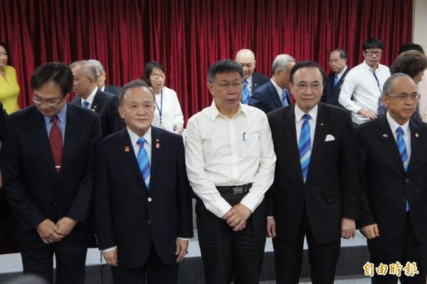台北市長柯文哲表示將參加大甲媽祖遶境活動。(記者黃建豪攝)