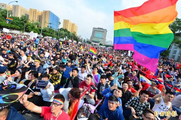 大法官宣告,法律未保障同婚已違憲。(資料照,記者王藝菘攝)