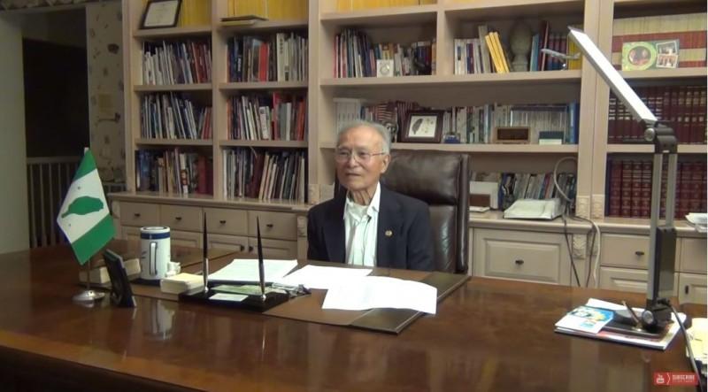陳榮儒3月31日病逝於洛杉磯,享壽88歲。(圖擷取自Taiwanese American Channel 南加州台灣人YOUTUBE影音頻道)