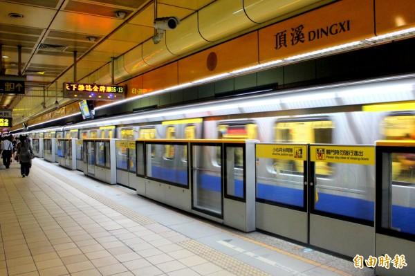 台北捷運中和線4站25日起,列車離站警示音從音樂改回鳥鳴聲。(資料照,記者郭逸攝)