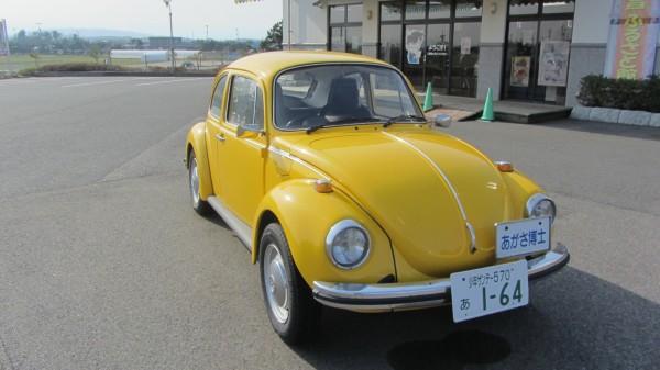 鳥取縣北榮町的「青山剛昌故鄉館」,入口處就有阿笠博士的小黃車迎接。(圖結自網路)