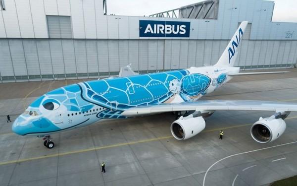 這是該公司最複雜的機身塗裝,外觀相當吸睛。(圖擷自空中巴士官網)