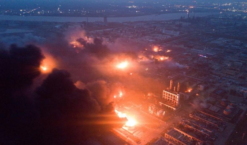 江蘇化工廠爆炸已造成47死、90傷。(路透)