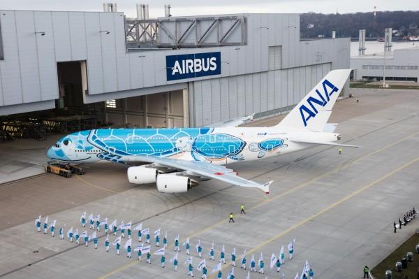 塗裝面積高達3600平方公尺,是該團隊有史以來最精心製作的工程之一。(圖擷自空中巴士官網)